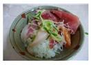 Kurban etleri yenip bitirildi mi?  Bizim öğlen yemeğimiz sashimi idi.