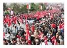Samsunda muhteşem Cumhuriyet yürüyüşü
