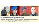 Dört şehit: Uzman Çavuş Bekir Atacan, Habip Özkaya, Tuncay Özdemir, Ersin Selimoğlu