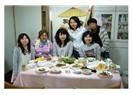 Öğrencilerle birlikte Türk yemeği