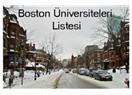 Boston Üniversiteleri Listesi ( Boston Universities)