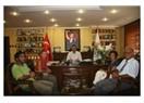Yumuktepe kazı ekibinden başkan Tuna'ya ziyaret