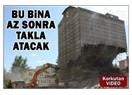 Takla atan bina ve İzmir'deki yıkımlar