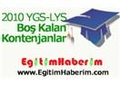 İşte 2010 YGS-LYS boş kontenjanları