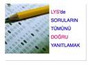 2010 LYS'de kaç aday, hangi testte soruların tümünü yaptı?