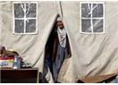 Gece eksi 10 derecede, bez çadırda sabahı beklemek...