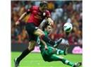 Galatasaray- Bursaspor maçında müthiş mücadele