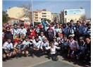 Çanakkale'ye Bisikletçiler çıkarma yaptı...