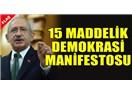 CHP'den 15 maddelik demokrasi manifestosu