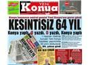"""Okunan gazete """"Yeni, Konya"""""""
