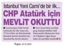 CHP, Atatürk için mevlit okuttu !