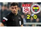 Yunus Yıldırım'a puan farkı çok gelmiş (Sivasspor 2-0 Fenerbahçe)