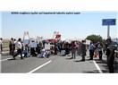 HEMA Magadur işçiler tabutlu eylem yaparak yol kapattı