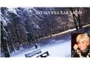 Antalya'ya kar yağdı.