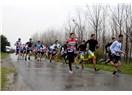 Triatletler İzmir Duatlonu'nda yağmura meydan okudu