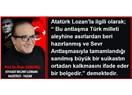 Türk milletinin özgürlük ve bağımsızlık belgesi Lozan Antlaşması'nın 92. Yıldönümü kutlu olsun!..