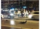 İzmir Göztepe sahilinden alkollü sürücü geçti