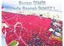 """İzmir bayrak açtı ve haykırdı: """" Terörü, bayraklarımızla boğarız!"""""""
