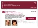 MBA Adayları: SDA Bocconi Full Time MBA Online Toplantı Duyurusu