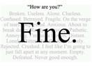 """Ben sana sadece """"İyiyim"""" Diyorum!"""