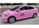 Kadınlarımızın gözü aydın artık pembe taksileri  var