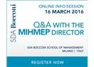 Sağlık Sektöründe İşletme Eğitimi Düşünenler için Duyuru - SDA Bocconi MIHMEP