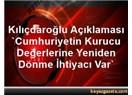 """Türkiye'nin """"kurucu ayarları"""" ve Cumhuriyet'in """"kuruluş değerleri"""" nedir?"""
