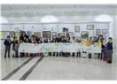 """Nahçıvan Özerk Cumhuriyyeti'nde çocukların """"Benim yaradıcılığım"""" resim sergisi açıldı"""