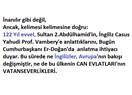 122 yıldan bugüne ne yaşananlar ve İngilizler (Avrupa), ne de 2. Abdülhamid'ler, Erdoğanlar değişmiş