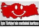 Türkiye'nin mutluluk haritası…