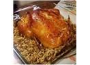 Fırın torbasında iç pilavlı tavuk