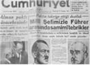 Milli Şefimizle Führer Arasında Samimi Tebrikler...