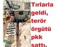 ABD'nin TIR'larıyla Geldi Terör Örgütü Nakde Çevirdi