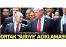 """Trump ve Putin'in; Suriye'de """"Askeri Çözümü Yok"""" Dedikleri Sorun Nedir?"""