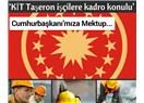 'KİT Taşeron İşçilere Kadro Konulu' Cumhurbaşkanımıza Açık Mektup