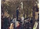Eşarbını Ağaca Bağlayıp Nutuk Çeken İranlı Kadın