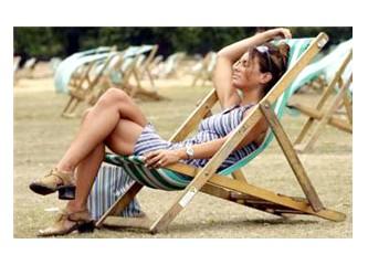 Londra'da sıcacık yaz