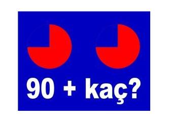 90 artı kaç?
