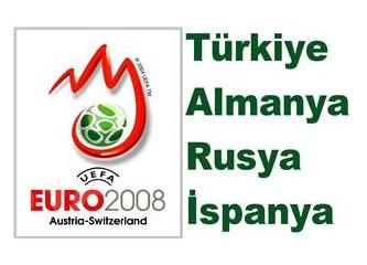 Euro2008: Kaldı 4 takım ve 3 maç