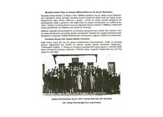 Atatürk, Bala milletvekiliydi...