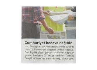 Zaman gazetesinde Cumhuriyet gazetesi haberi