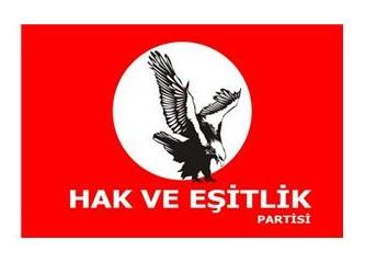 Hak ve Eşitlik Partisi kuruldu