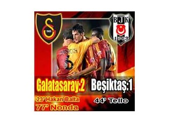 Galatasaray, iki kez kazanmış oldu.
