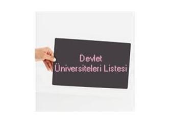 Türkiye'deki devlet üniversiteleri listesi