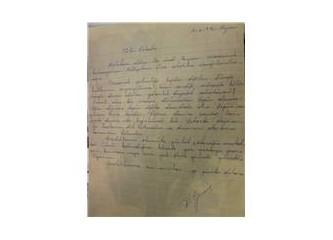 Deniz Gezmiş'in 14 Nisan 1971 ve 6 Mayıs 1971 tarihli 2 mektubu