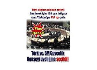 Türkiye, BM Güvenlik Konseyi geçici üyesi oldu