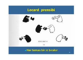 Her temas bir iz bırakır: Locard prensibi (1)