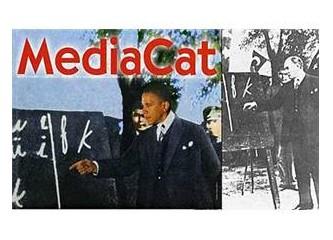 Bir tasarımcıya yakışmayan kapak montajı. Atatürk ve Obama farklı dönem ve konseptte iki liderdir.