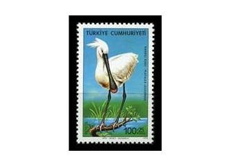 Kuş konulu Cumhuriyet pulları