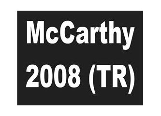 McCarthy 2008